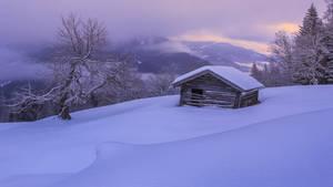 Snowy landscape in the austrian alps