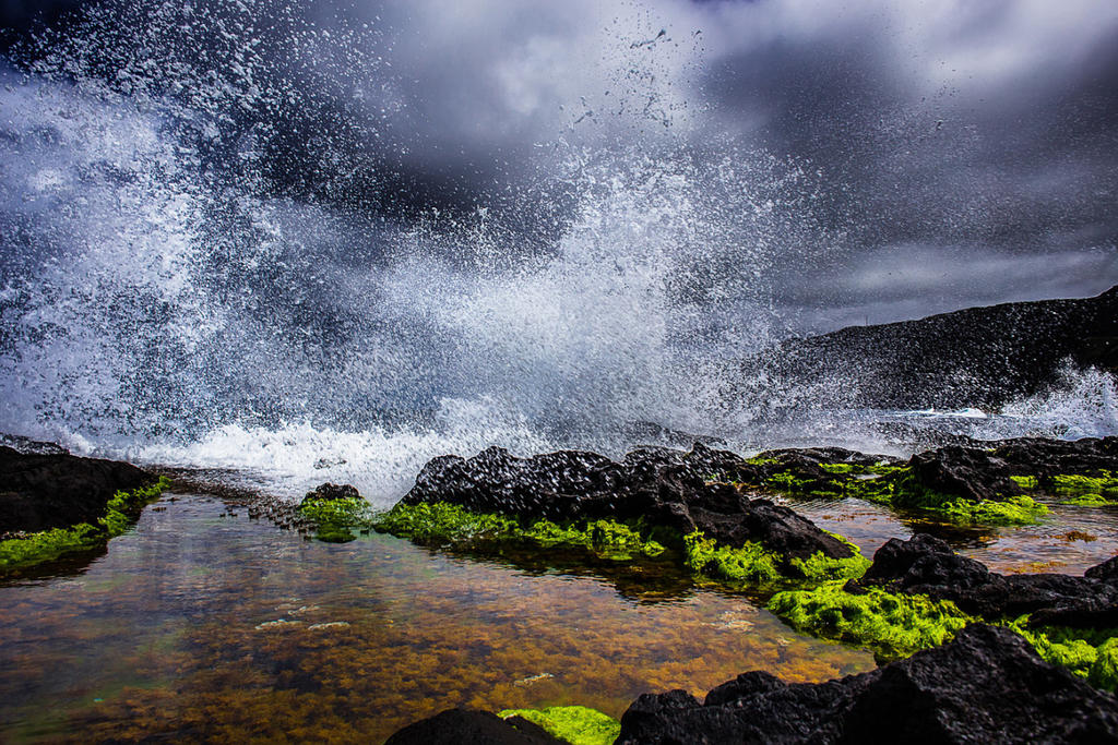 Azores Lavastone coast Storm by StefanPrech