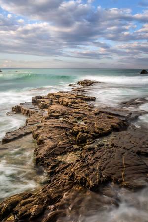 wavewatching on cornish stonecoast by StefanPrech