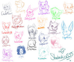 DonationSketches Batch 1 by ShadowKira555