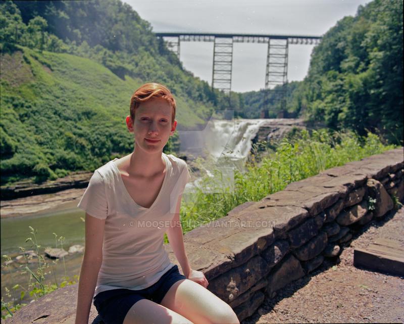 Anna and Letchworth Bridge by Mooseushi