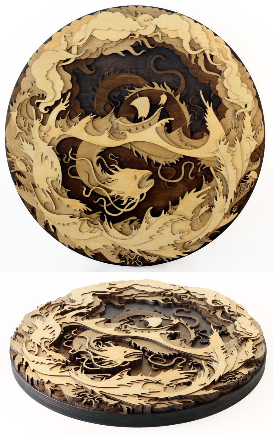 Sea Serpent by mtomsky