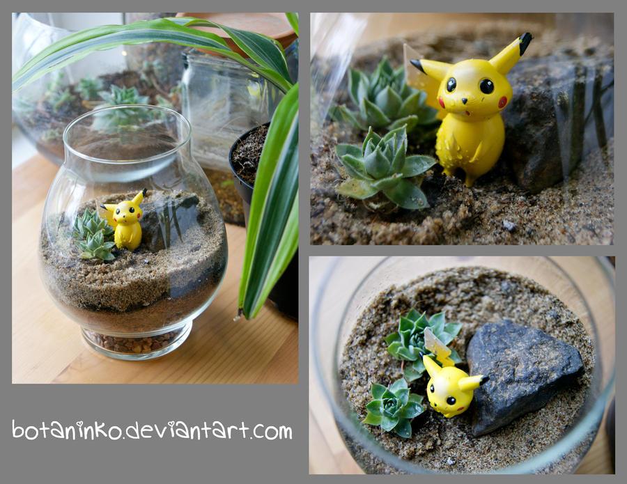 Pokemon Pikachu Terrarium by botaninko