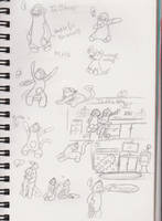 Work doodles by AcesGrace96