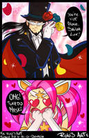 Star guardian Lux and Twisted Mask by Rolochan