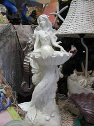 Mermaid Statue 1 by Nightmare247Stock