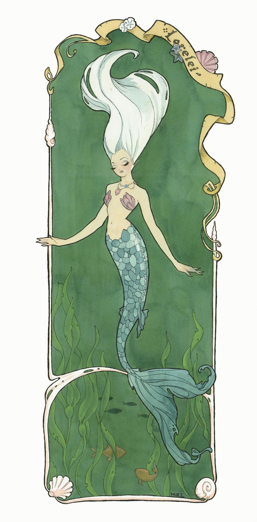 Lorelei (large) by Maryanneleslie