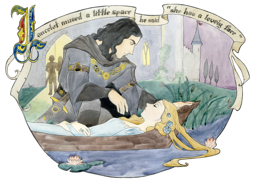 Lancelot mused by Maryanneleslie