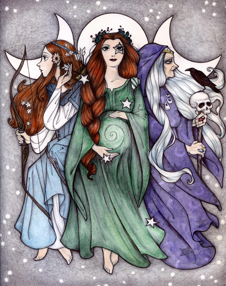 Maiden Mother Crone by Maryanneleslie