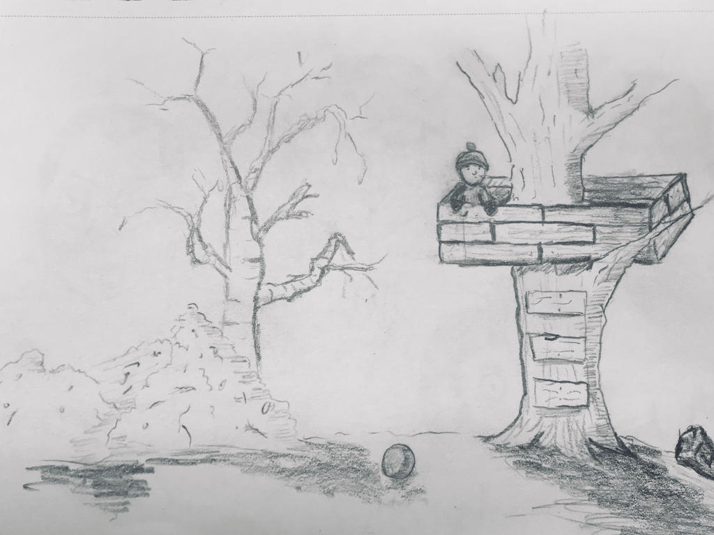 Tree fort sketch  by DeweyVMonsters