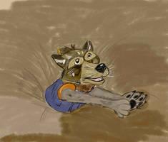 Rocket Raccoon in Quick Sand.