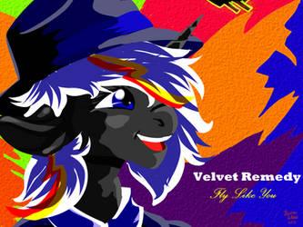 Velvet Remedy Popart by IBrainWashedYou
