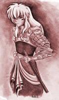 Inuyasha full demon by KitDesertOfFate27