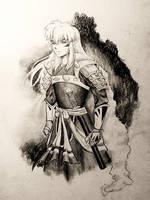 Inuyasha Full Demon 2013 by KitDesertOfFate27