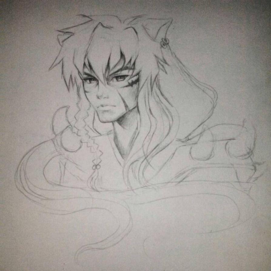 older inuyasha by KitDesertOfFate27