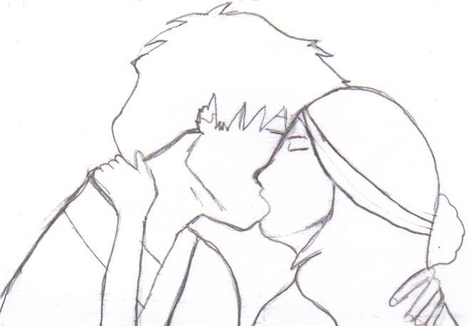 Line Drawing Kiss : Zutara kiss lineart by paintedbluerose on deviantart