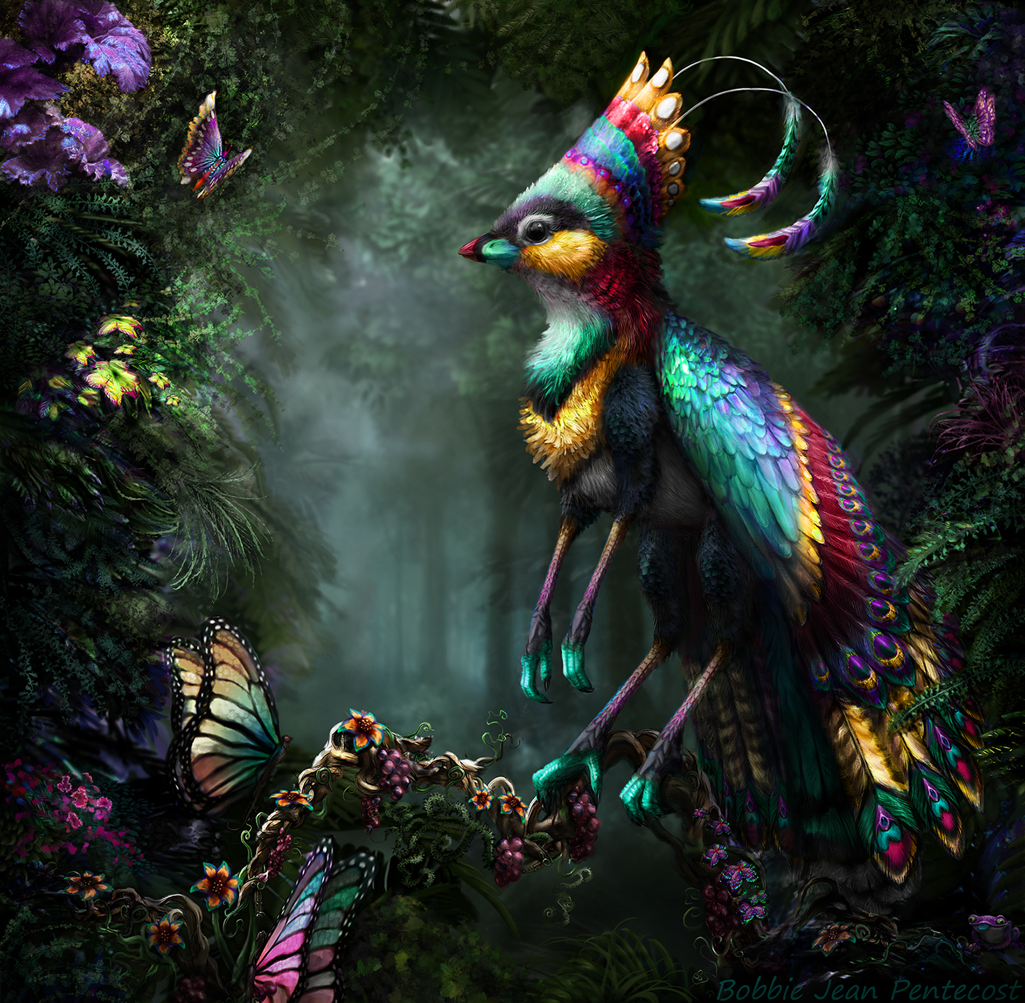 Pentecost Rainbow Finchgryph by BJPentecost