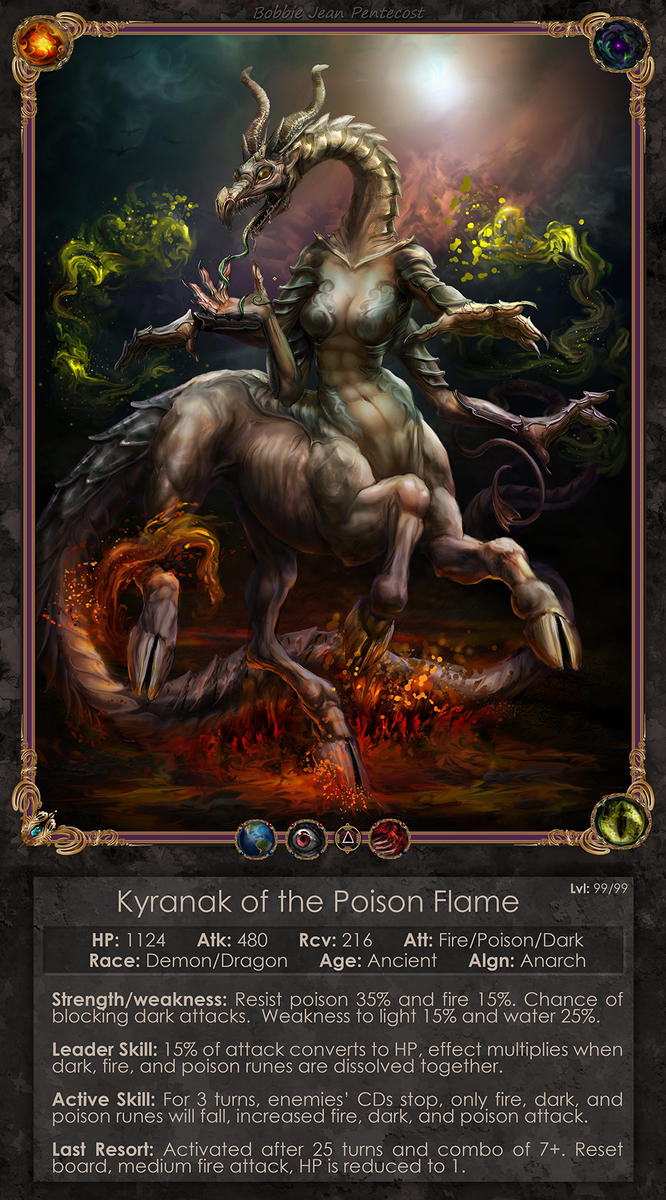 Kyranak the Poison Flame by BJPentecost