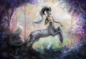 Centaur In The Gemstone Forest