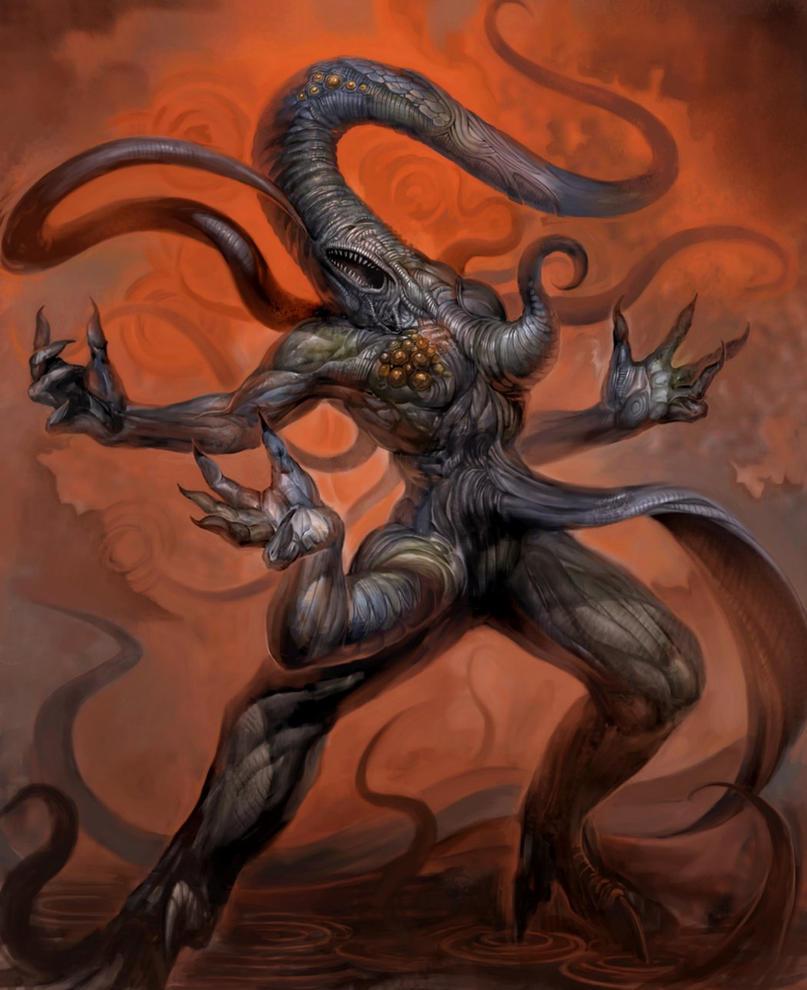 Los Dioses de Lovecraft  y sus criaturas Nyarlathotep_by_douzen-d5i2s79