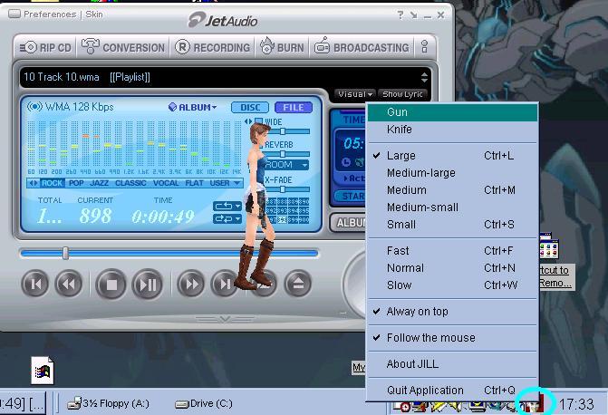 Jill interactive desktop chara