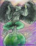 Wolf of a wierd universe