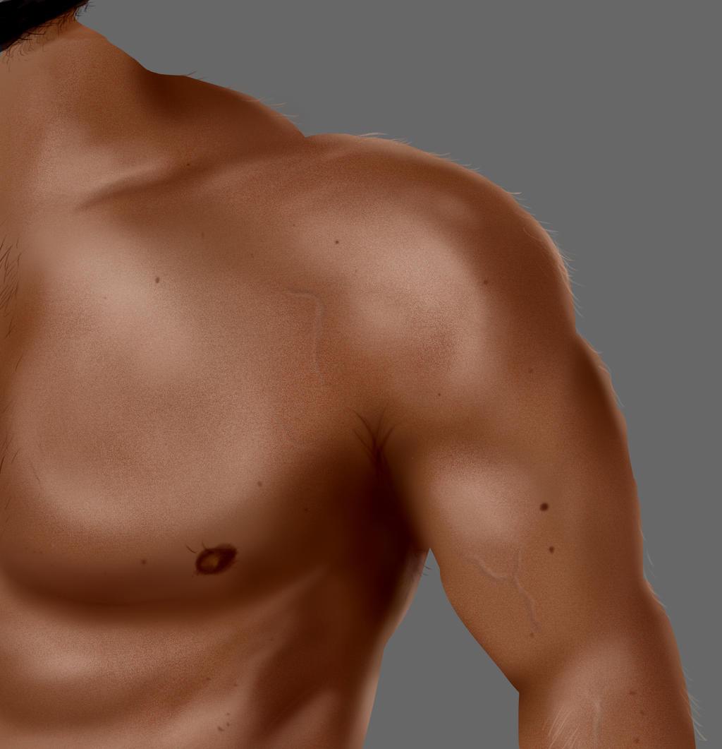Male chest skin by Syddarta