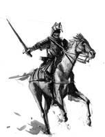Knight on horseback by Rufus-Jr