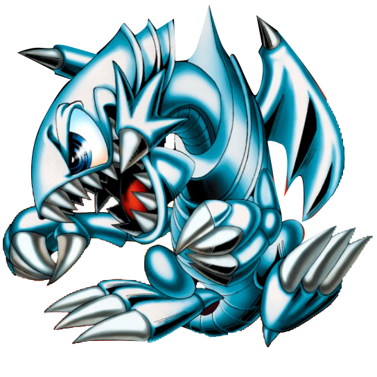 Blue-Eyes Toon Dragon PNG by Carlos123321
