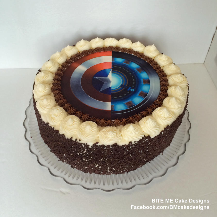 Captain America Civil War Cake by SamuelDesigns on DeviantArt