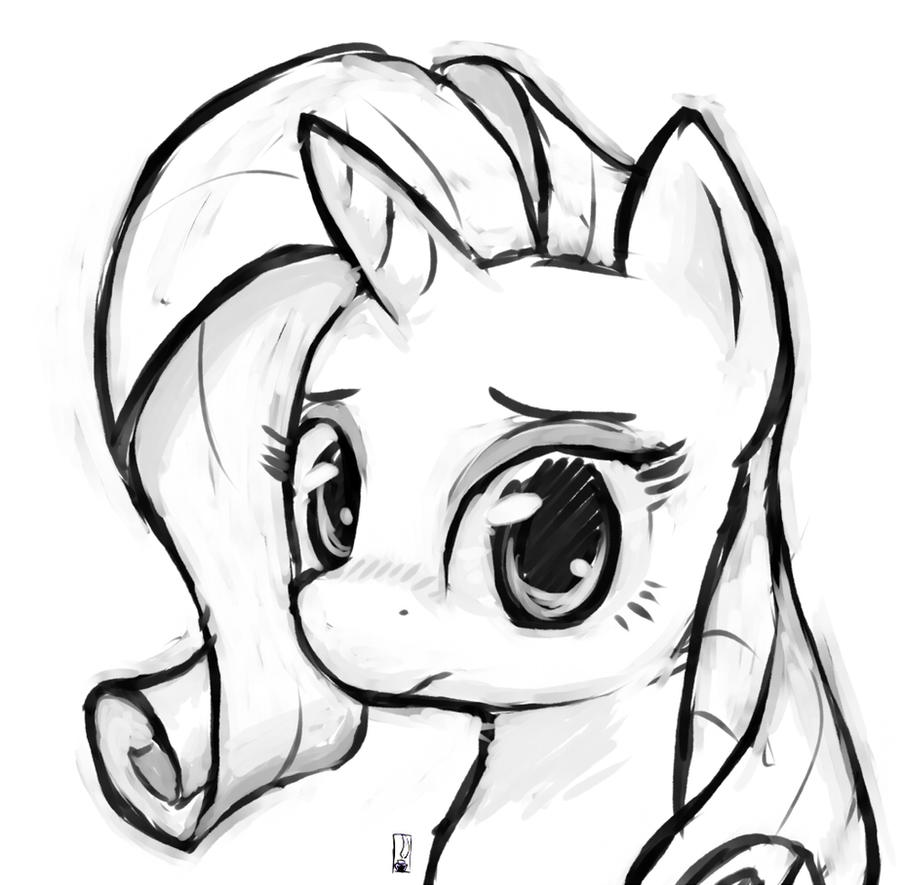 Rarity Sketch by Inkwel-MLP