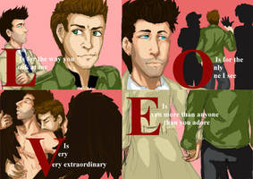 L-O-V-E Destiel style by Little-Tuss