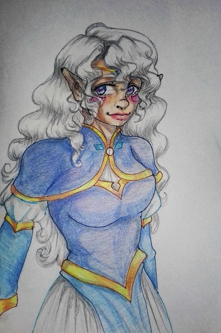Voltron - Princess Allura doodle by Little-Tuss