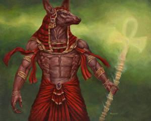 Anubis Oil Painting Final