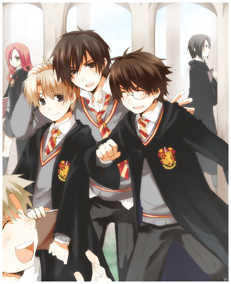 Padres Harry Potter anime