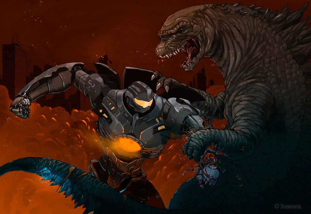 Gipsy Danger Vs. Godzilla by Drawmurai on DeviantArt