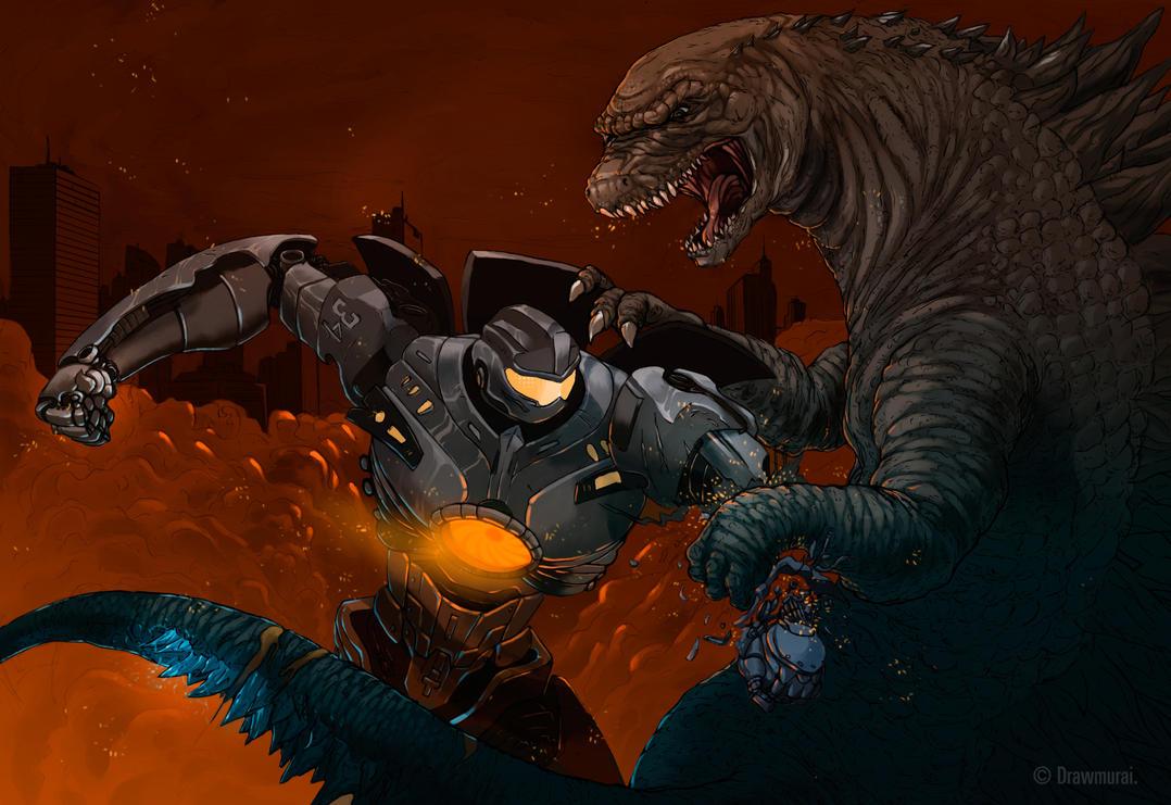 Gipsy Danger Vs. Godzilla by Drawmurai on DeviantArt