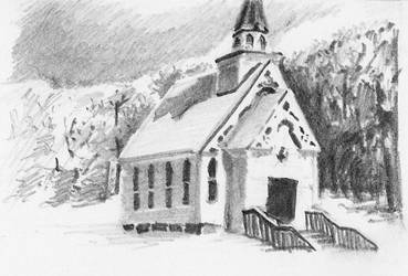 Church pencil miniature