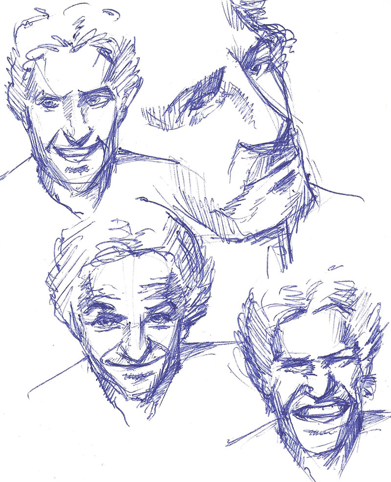 Face sketches by Anton42