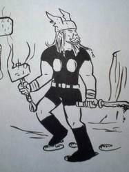 Thor Meeting Doodle by madtiki