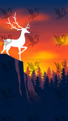 Sunset Stag iPhone Wallpaper 1440x2560