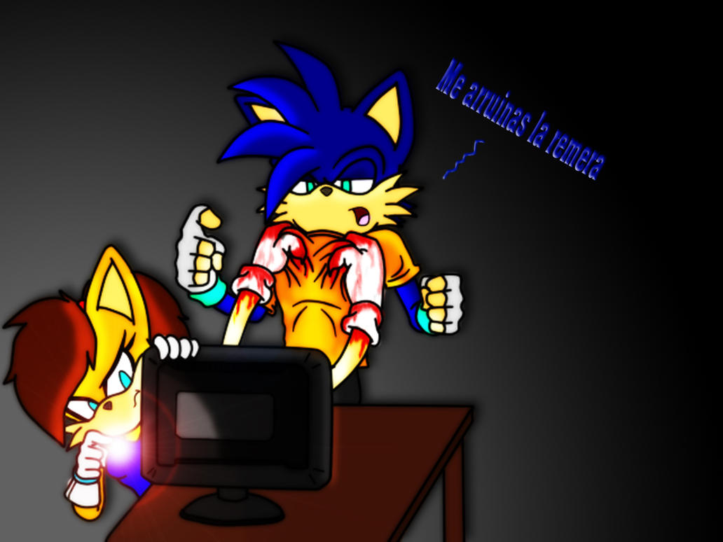 Jugando Sonicexe by Miguex2010 on DeviantArt