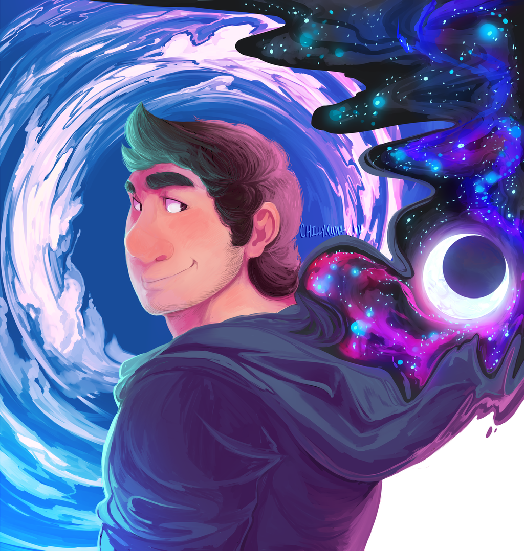 Cosmic Self Portrait by ChillyKuma-Kuma