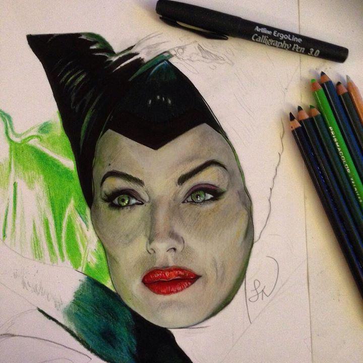 Maleficent WIP 2 by Steve-Nice