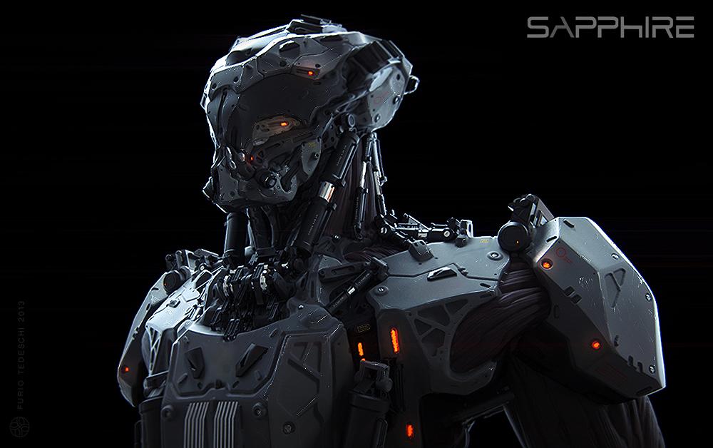 Sapphire Mech by BlazenMonk