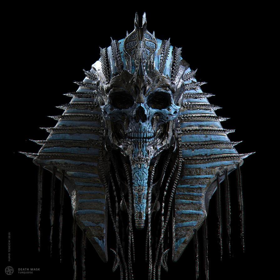 Death Mask Turquoise by BlazenMonk
