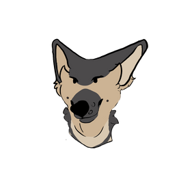 Borking for the shep by EmbersOfWolf