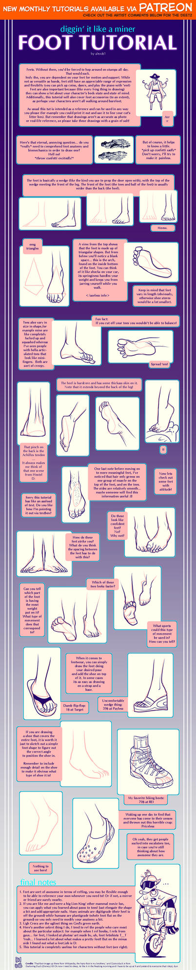 Foot tutorial by shingworks