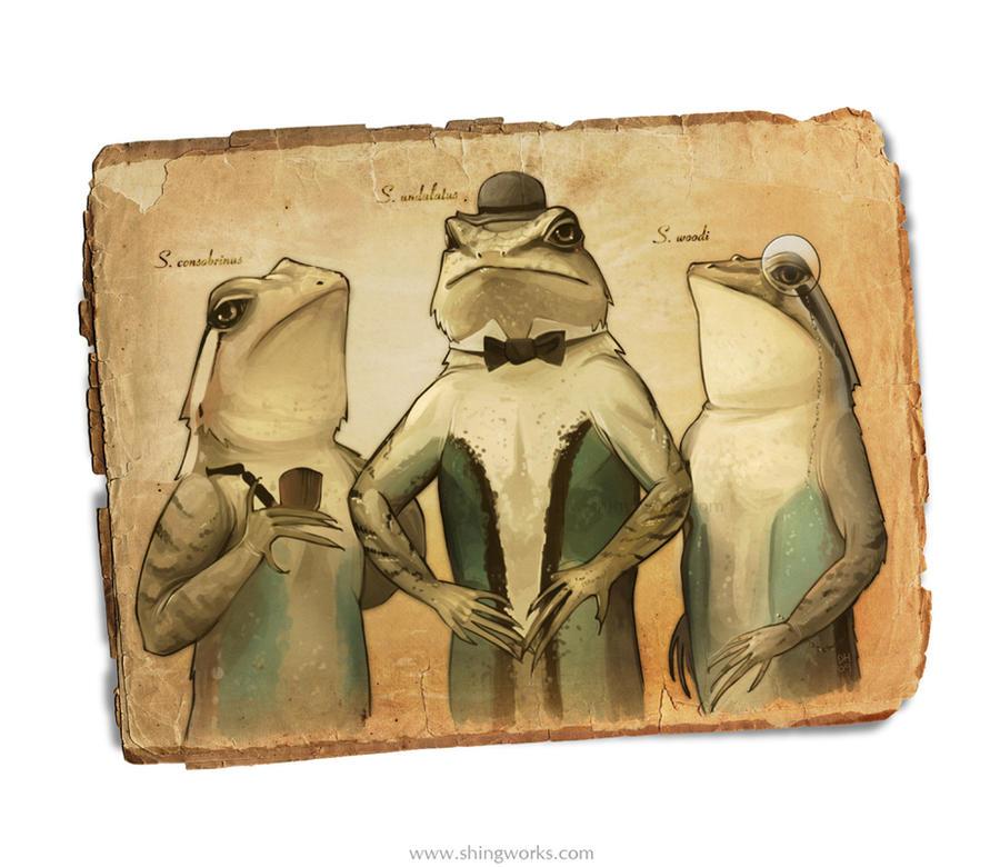 Three dapper fellows by shingworks