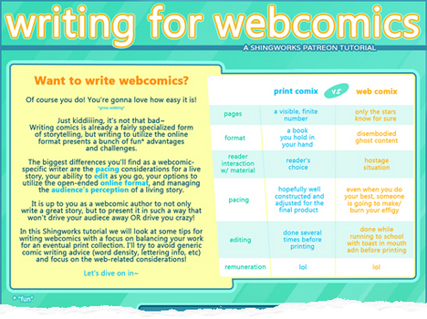 Writing for Webcomics Tutorial (preview)